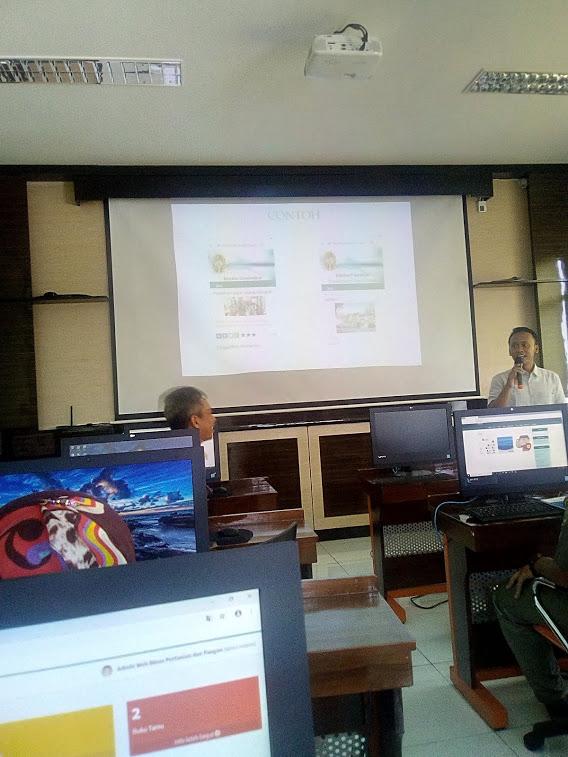 Pelatihan di Kominfo untuk Admin PPID