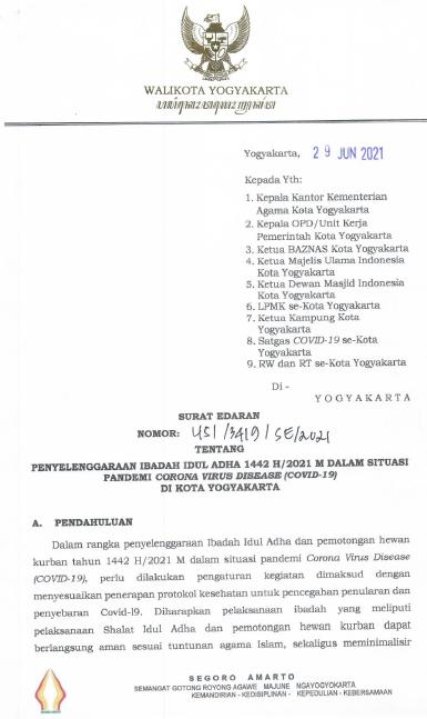 Rangkaian Kegiatan Menyambut Perayaan Hari Besar Nasional (PHBN) IDUL ADHA 1442H/2021 M